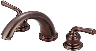 Olympia Faucets Double Handle Deck Mounted Tub Trim Set; Oil Rubbed Bronze