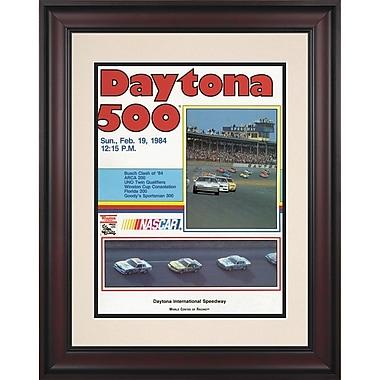 Mounted Memories NASCAR Daytona 500 Program Framed Vintage Advertisement; 26th Annual - 1984