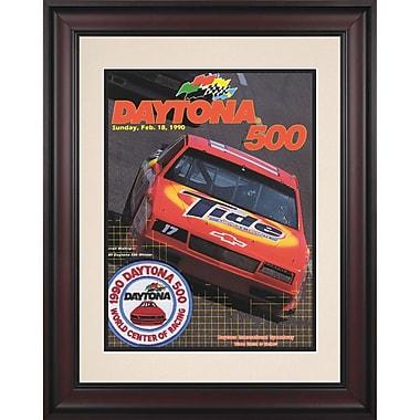 Mounted Memories NASCAR Daytona 500 Program Framed Vintage Advertisement; 32nd Annual - 1990