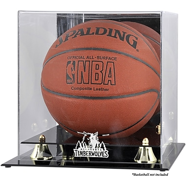 Mounted Memories NBA Golden Classic Logo Basketball Display Case; Minnesota Timberwolves