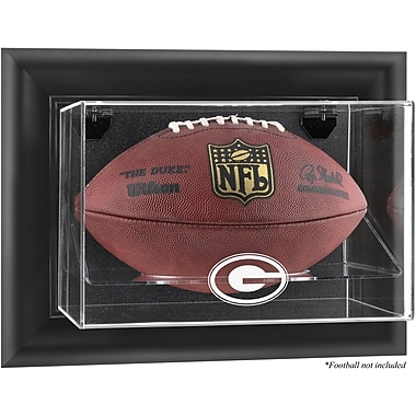 Mounted Memories NFL Wall Mounted Football Logo Display Case; Green Bay Packers