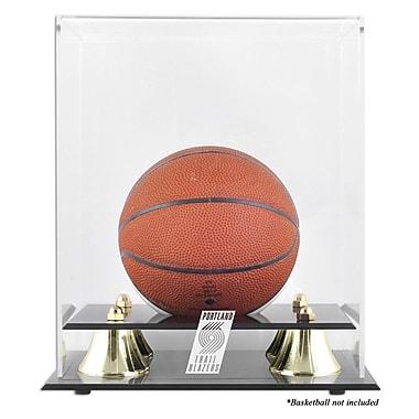 Mounted Memories NBA Golden Classic Logo Mini Basketball Display Case; Portland Trailblazers