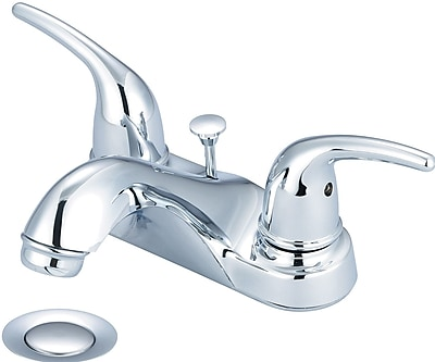 Olympia Faucets Centerset Standard Bathroom Faucet w/ Drainage; PVD Brushed Nickel