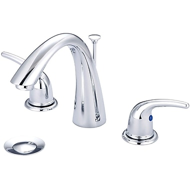 Olympia Faucets Double Handle Widespread Standard Bathroom Faucet w/ Drain Assembly; Chrome
