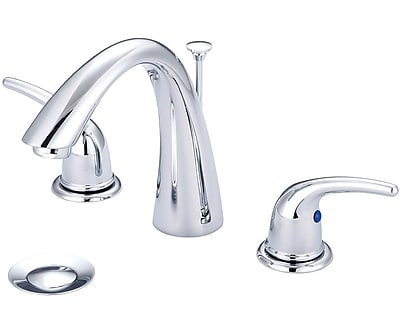 Olympia Faucets Widespread Standard Bathroom Faucet w/ Drain Assembly; Chrome