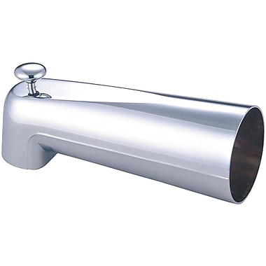 Olympia Faucets Deck Mount Extended Adjustable Flow Tub Spout; Chrome
