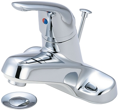 Olympia Faucets Centerset Standard Bathroom Faucet w/ Drain Assembly; Chrome
