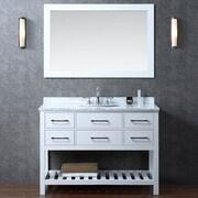 Ari Kitchen & Bath Manhattan 48'' Single Bathroom Vanity Set w/ Mirror; White