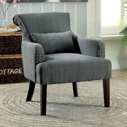 Hokku Designs Marlow Wing back Chair; Gray