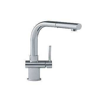 Franke Pull Out Single Handle Kitchen Faucet; Satin Nickel