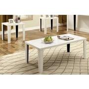 Hokku Designs Latanya 3 Piece Coffee Table Set; White