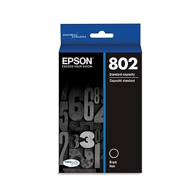 Epson 802 DURABrite Ultra Ink Cartridge, Standard-capacity, Black Ink Cartridge (T802120)
