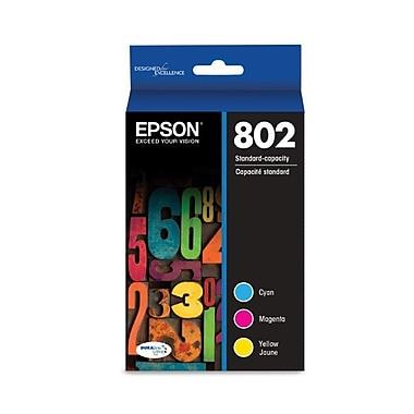 Epson 802 DURABrite Ultra Ink Cartridge, Standard-capacity, Color Multipack (T802520)