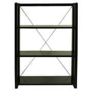 Wildon Home   Citiscape Folding/Stacking 38'' Bookcase; Brown