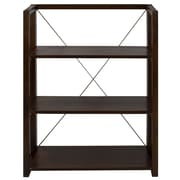 Wildon Home   Citiscape Folding/Stacking 38'' Bookcase; Black