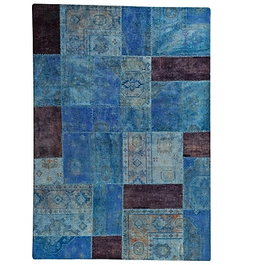 Hokku Designs Renaissance Hand-Knotted Light Blue Area Rug; 7'10'' x 9'10''