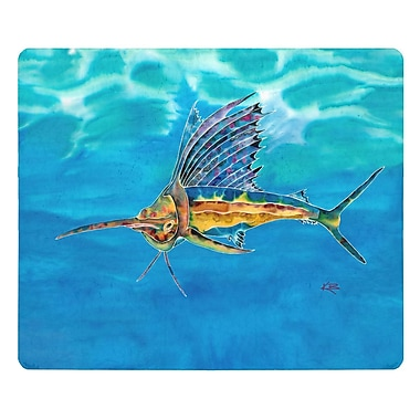 Live Free Sailfish Glass Cutting Board