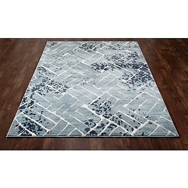 Art Carpet Titanium Aqua Area Rug; 6'7'' x 9'6''