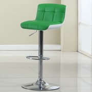 Hokku Designs Adjustable Height Swivel Bar Stool; Apple Green