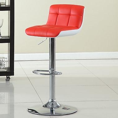 Hokku Designs Adjustable Height Swivel Bar Stool; Red