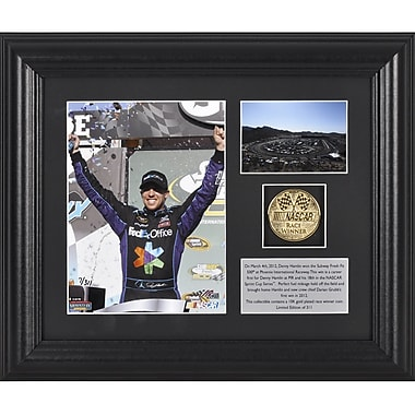 Mounted Memories NASCAR Denny Hamlin 2012 Subway Fresh Fit 500 Winner Framed Memorabilia