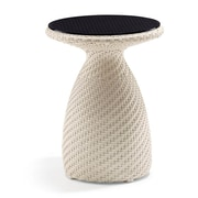 100 Essentials Circle High Side Table; Java Antique