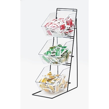 Cal-Mil Iron 3 Tier Wire Holder w/ Removeable Bins
