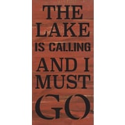 Artistic Reflections 'The Lake is Calling and I Must Go' Textual Art on Cherry Wood