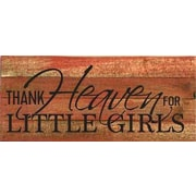 Artistic Reflections 'Thank Heaven for Little Girls' Textual Art on Cherry Wood