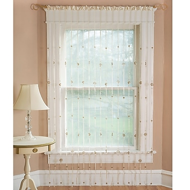 Elrene Home Fashions Crackle Rod Pocket Single Curtain Panel; 36'' W x 84'' L
