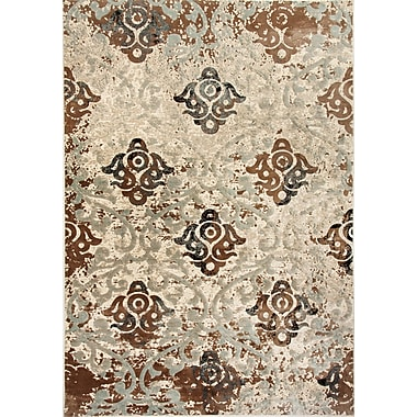 Dynamic Rugs Treasure II Camel/Blue Area Rug; 3'6'' x 5'6''
