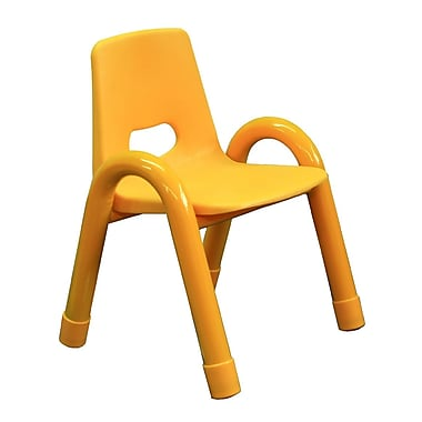 A+ Child Supply Rainbow Kids Novelty Chair; Yellow