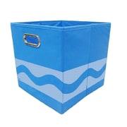 Modern Littles Crayola Serpentine Fabric Storage Bin; Blue