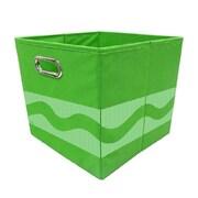 Modern Littles Crayola Serpentine Fabric Storage Bin; Green