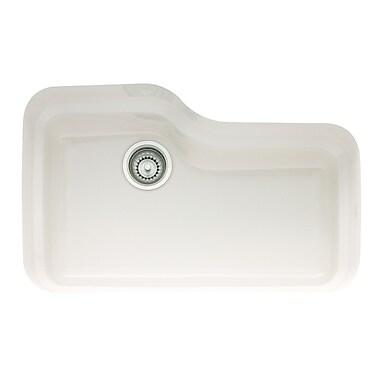 Franke Orca 30'' x 19.5'' Fireclay Undermount Kitchen Sink; Matte Black