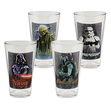 Vandor Star Wars 4 Piece 16 oz. Glass Set