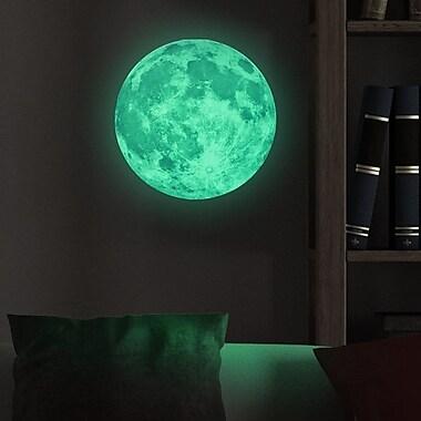Walplus Glow in Dark Moon Wall Decal