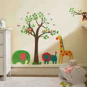 Walplus Animals Tree Wall Decal