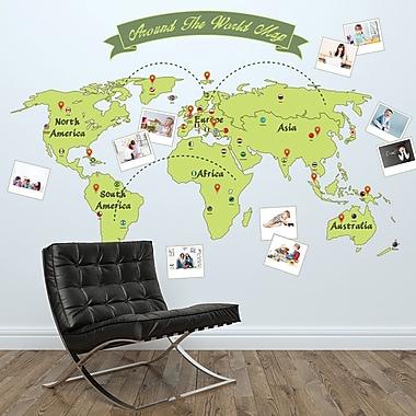 Walplus Around the World Map Wall Decal