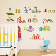 Walplus Animals Numbering II Wall Decal