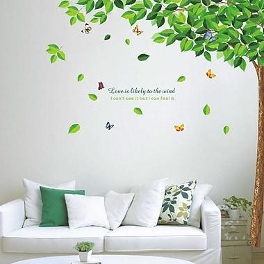 Walplus Green Falling Leaves Wall Decal