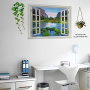 Walplus 3D River View Wall Decal