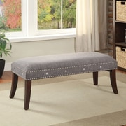 !nspire Upholstered Bench; Grey