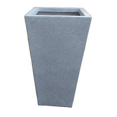 LaKasaLLC Modern Concrete Pot Planter; 24'' H x 13'' W x 13'' D