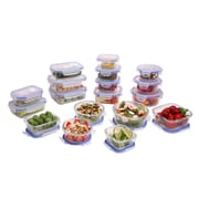 Kinetic Glassworks Element 36-Piece Oven Safe Glass Food Storage Container Set