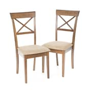 Wildon Home   Crawford Side Chair (Set of 2); Walnut