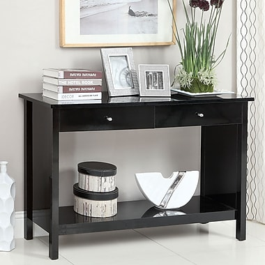 Hokku Designs Waldon Console Table; Black