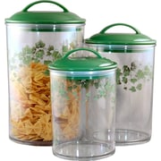 Corelle 3-Piece Ivy Acrylic Canister Set