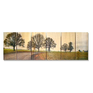 Gizaun Art 'Emily's Road' Photographic Print on Wood