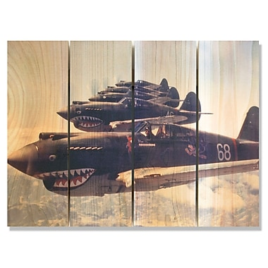 Gizaun Art 'P40 Warhawks' Photographic Print on Wood